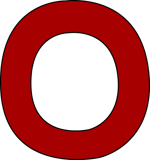 The letter o clipart