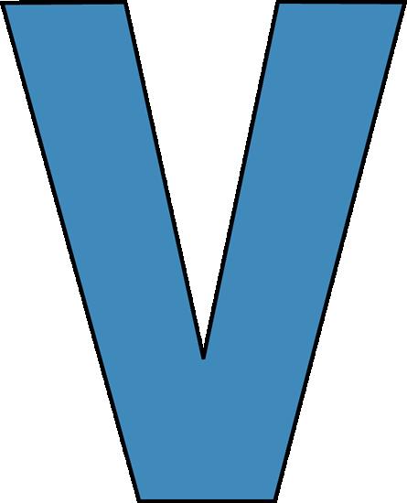 The letter v clipart
