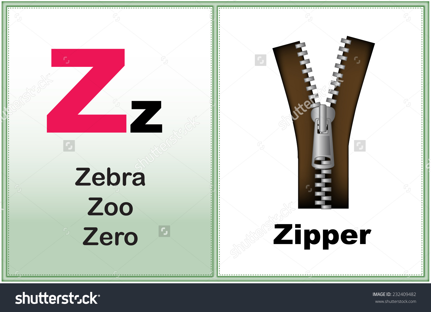 The letter z clipart clip free library Alphabet Letter Z Clipart Few Similar Stock Vector 232409482 ... clip free library