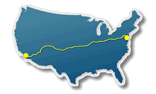 The long way route clipart clip art royalty free stock Bicycle Routes Across the USA and Bicycle Maps Across America clip art royalty free stock