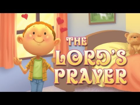 The lord s prayer kids clipart banner transparent stock The Lord\'s Prayer song for kids - The Our Father banner transparent stock
