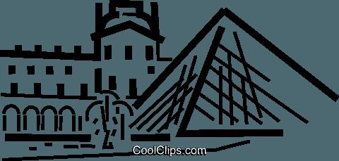The louvre clipart svg freeuse download Louvre, Paris Royalty Free Vector Clip Art illustration ... svg freeuse download