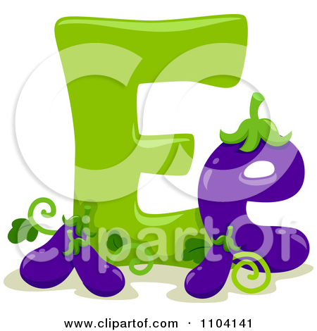 The lower case letter e clipart svg Clipart Capital And Lowercase Letter E With Eggplants - Royalty ... svg