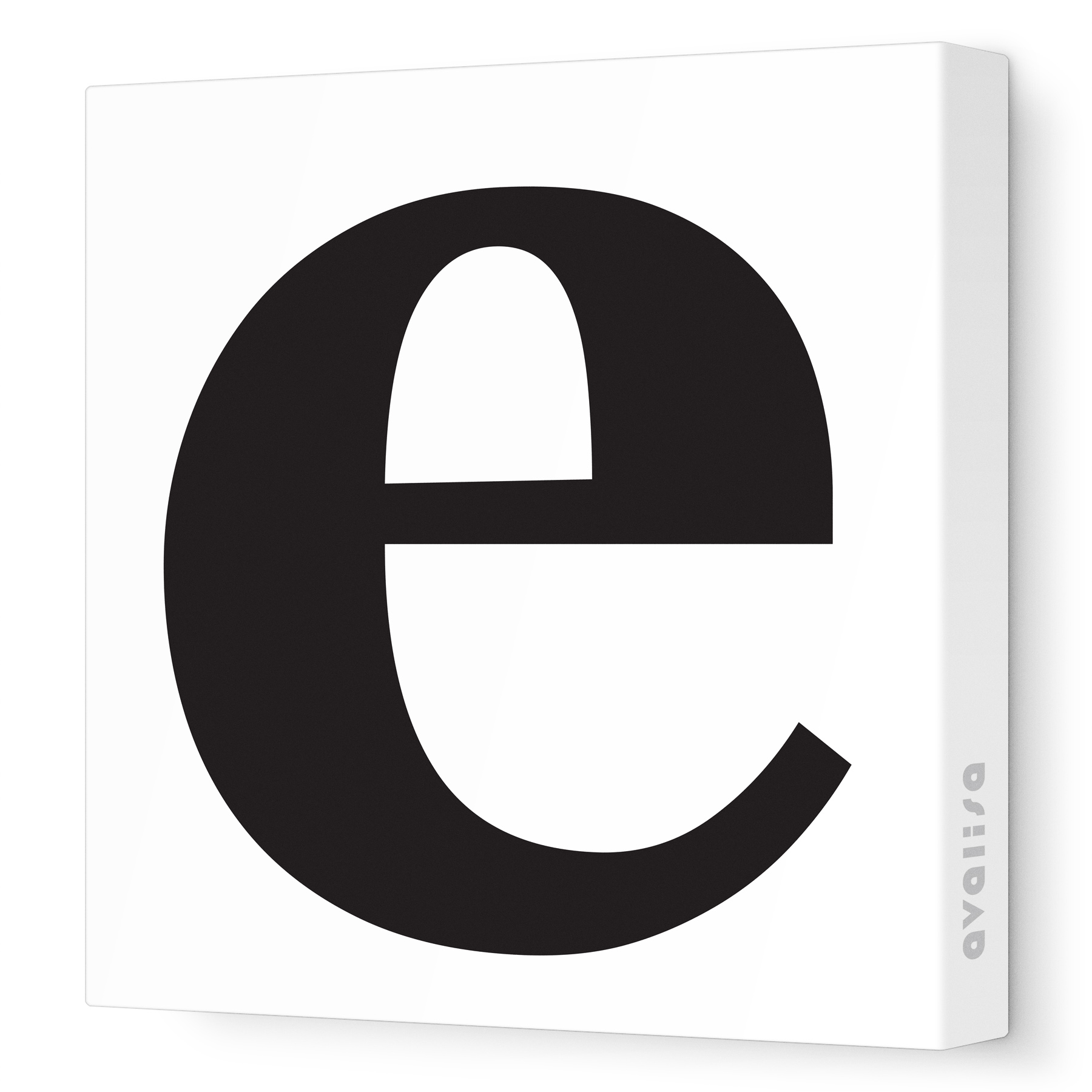 The lower case letter e clipart image library stock lower case e - Canvas Wall Art :: Numbers and Letters | Avalisa image library stock