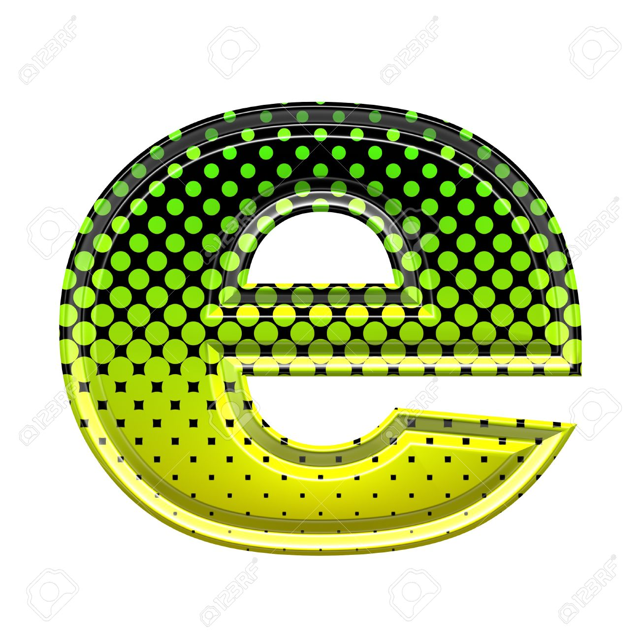 The lower case letter e clipart image Halftone 3d Lower-case Letter E Stock Photo, Picture And Royalty ... image
