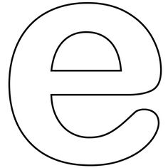 The lower case letter e clipart png black and white library Letter E Clipart - Cliparts.co | Initials, monograms & names ... png black and white library