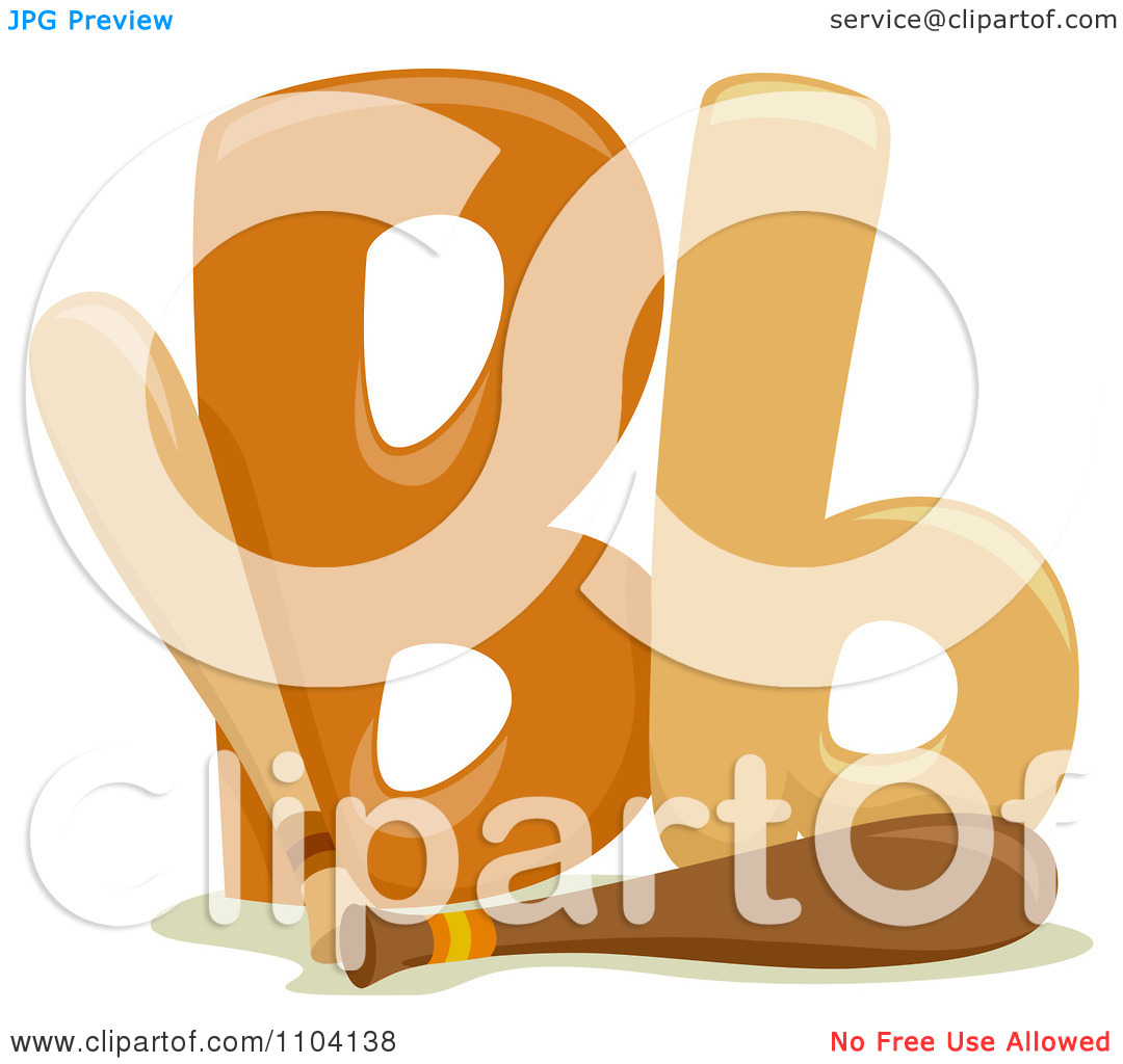The lowercase letter b clipart vector transparent library Clipart Capital And Lowercase Letter B With Baseball Bats ... vector transparent library