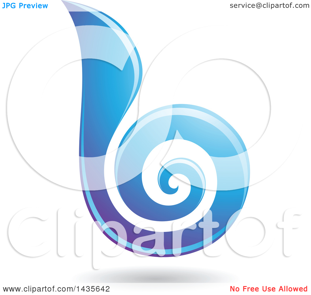 The lowercase letter b clipart clip freeuse download Clipart of a Floating Abstract Swirl Lowercase Letter B with a ... clip freeuse download
