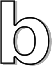 The lowercase letter b clipart picture download Letter b clipart outline - ClipartFest picture download