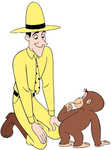 The man in the yellow hat clipart png royalty free library Curious George Clip Art | Cartoon Clip Art png royalty free library
