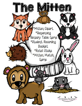 The mitten story clipart svg The Mitten - Sequencing, CLIPART, and more! svg