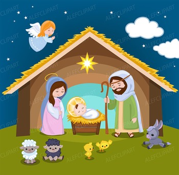 Nativity pictures clipart picture royalty free Nativity clipart - Christmas clipart picture royalty free