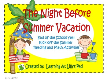 The night before school clipart picture free library The Night Before Summer Vacation: End of the School Year Activities picture free library