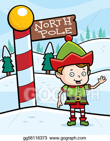 The north pole clipart svg library library Vector Clipart - North pole elf. Vector Illustration ... svg library library