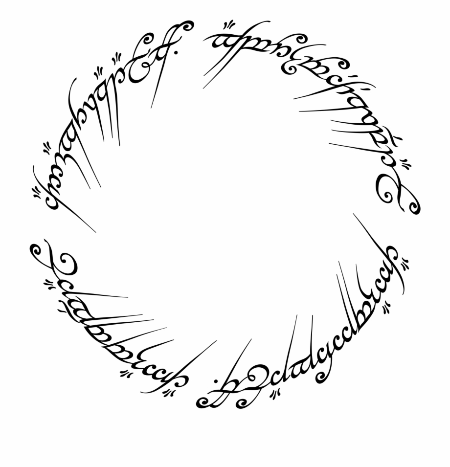 The one ring clipart picture freeuse library The One Ring Logo Png Transparent - Scritta Anello Signore ... picture freeuse library