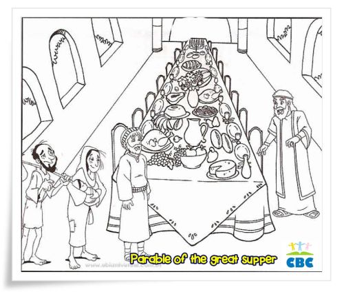 Library of the parable of the great banquet clip art ...