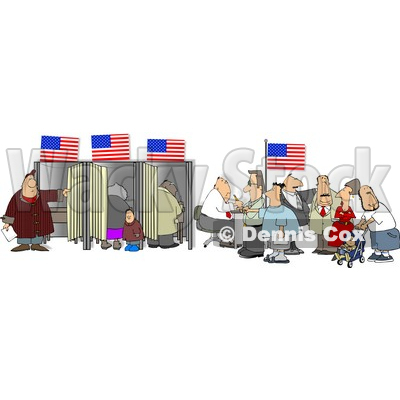 The people of the united states clipart jpg library download People Voting for the Next President of the United States Clipart ... jpg library download