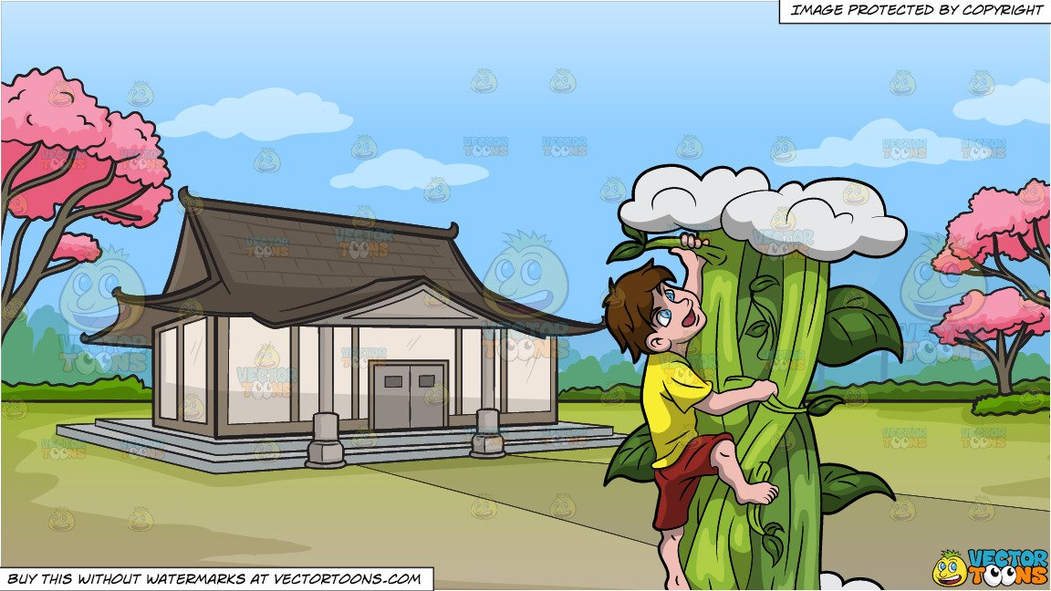 The picture of the climb up the roof in clipart graphic library download Jack Climbing Up The Giant Beanstalk and A Traditional Japanese House  Background graphic library download