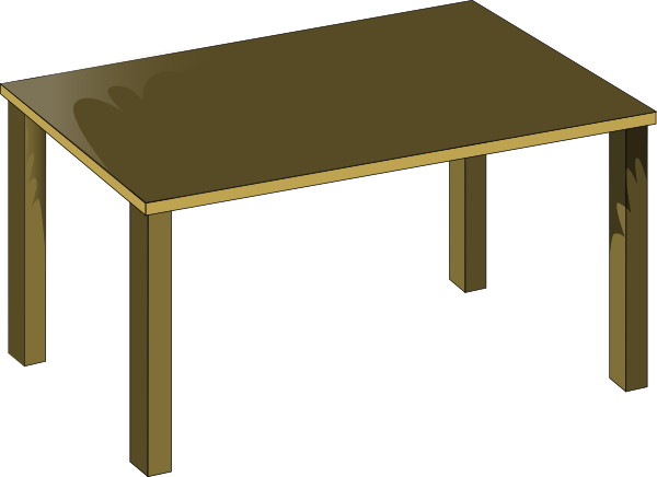 The pictures of a table in clipart jpg royalty free library Table Clip Art at Clker.com - vector clip art online ... jpg royalty free library