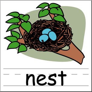 The pictures of the nest in clipart clip art Clip Art: Basic Words: Nest Color Labeled I abcteach.com ... clip art