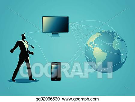 The power of technology clipart image black and white Vector Art - The power of information technology. Clipart ... image black and white