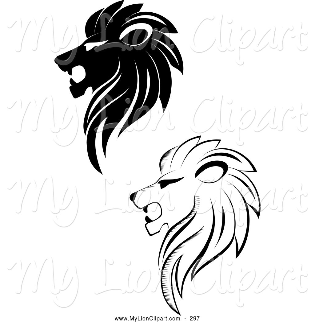 The predator full profile clipart black and white image freeuse library Pin by pratibha singh on Graphics | Lion images, Lion tattoo ... image freeuse library