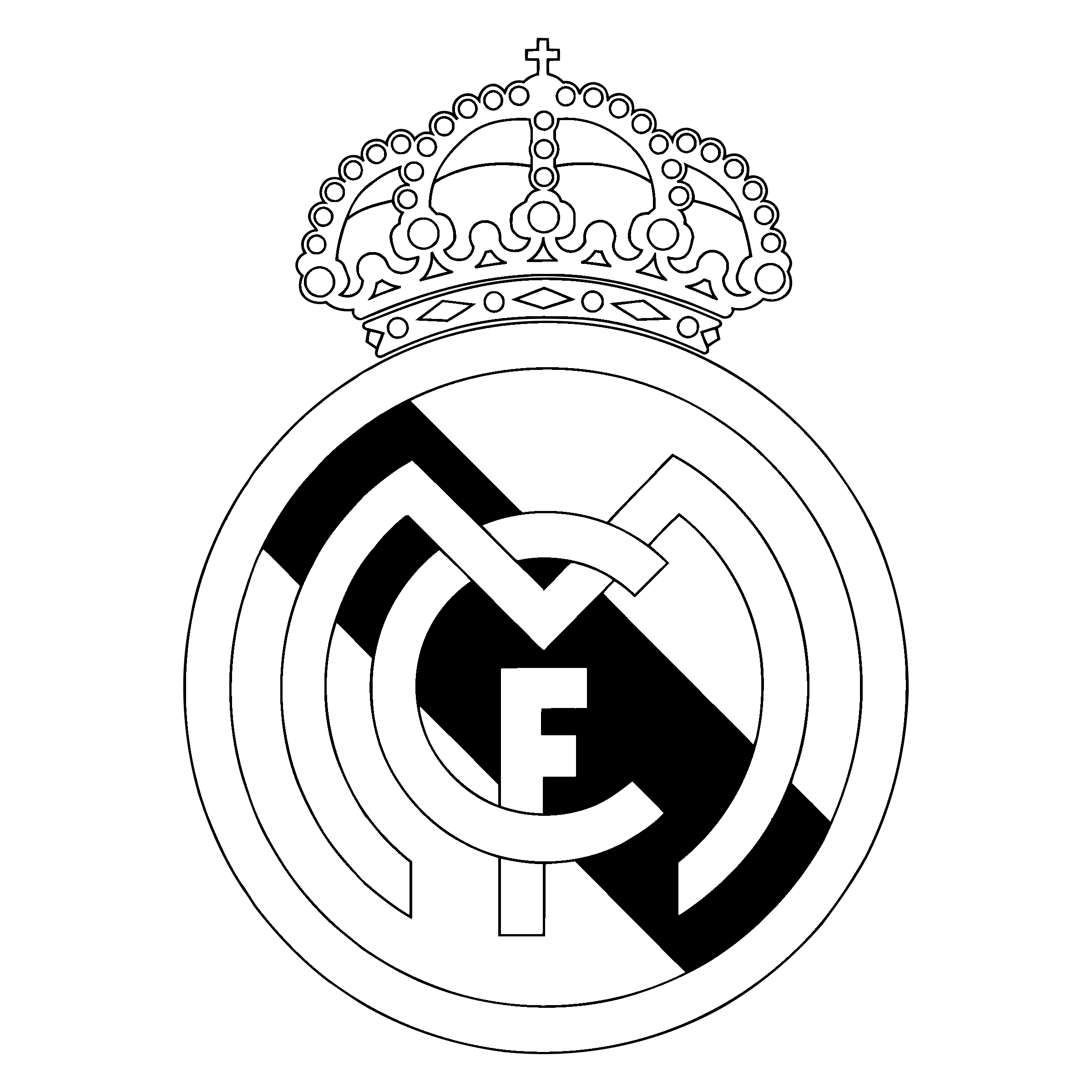 The real real logo clipart svg freeuse stock Real Madrid Cf Logo Black And White svg freeuse stock