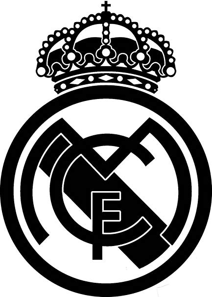 The real real logo clipart svg library Maple Enterprise Real Madrid FC Black Logo Vinyl Decal Sticker for car  Laptop svg library