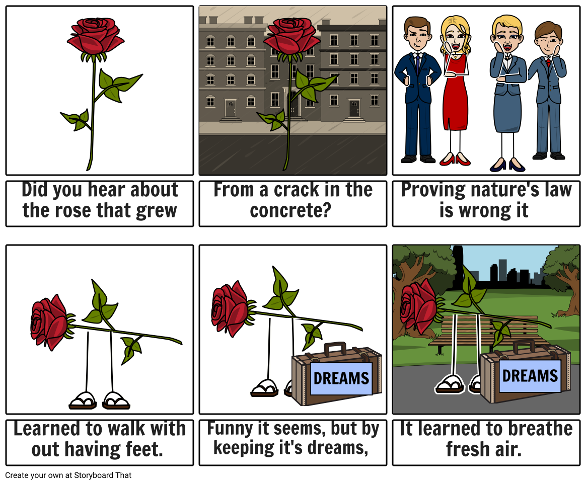 The rose that grew from concrete clipart svg black and white Rose that grew in concrete Storyboard by mrcareyatjamesrutter svg black and white