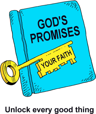The scriptures are the word of god clipart banner freeuse library Image: A Bible with the word Gods Promises and a Key with ... banner freeuse library
