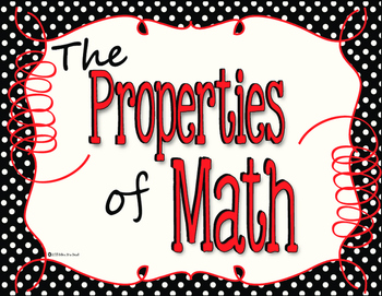 The seven properties math clipart clipart royalty free download Properties of Math Posters in Black and White Polka Dot with Red Accents clipart royalty free download