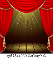The stage clipart banner freeuse stock Stage Clip Art - Royalty Free - GoGraph banner freeuse stock