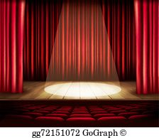 The stage clipart clipart transparent library Stage Clip Art - Royalty Free - GoGraph clipart transparent library