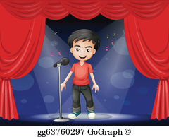 The stage clipart clip art freeuse download Royalty Free Stage Kid Child Boy Clip Art - GoGraph clip art freeuse download