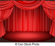 The stage clipart clip art transparent stock Red curtains on a stage   Clipart Panda - Free Clipart Images clip art transparent stock
