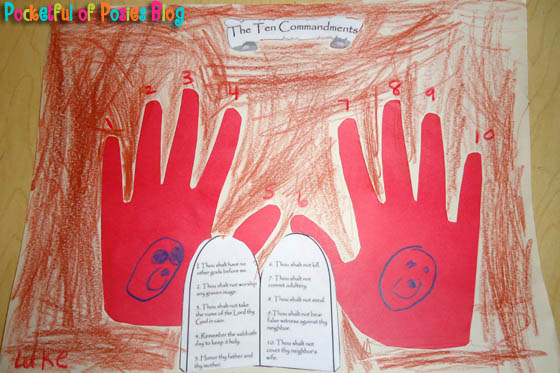 The ten commandments craft clipart transparent download Sunday School Crafts: The 10 Commandments - Blessings ... transparent download