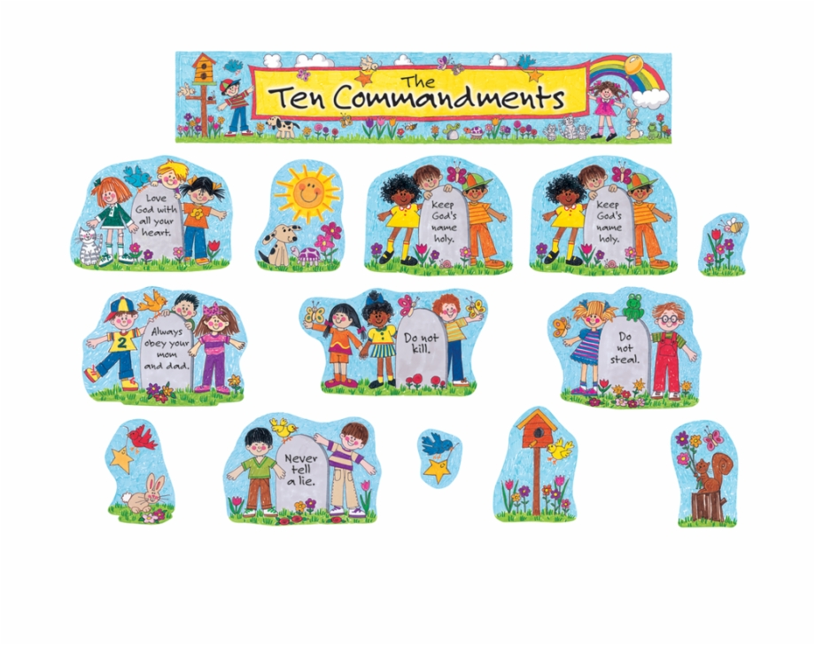 The ten commandments craft clipart clipart freeuse stock Tcr7000 Children\'s Ten Commandments Bulletin Board - Ten ... clipart freeuse stock
