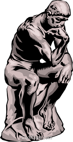 The thinker clipart free picture library stock The Thinker Royalty Free Vector Clip Art illustration ... picture library stock