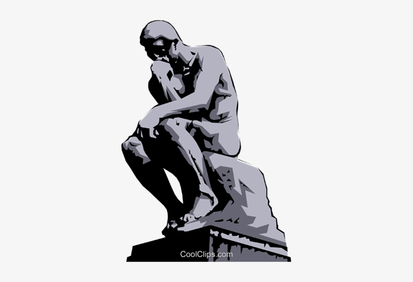 The thinker clipart free vector library Rodin\'s Thinker Royalty Free Vector Clip Art Illustration ... vector library