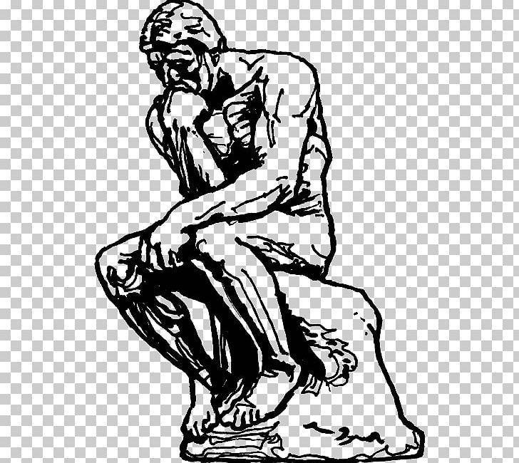 The thinker clipart free clip library stock The Thinker Sculpture Drawing Masterpiece PNG, Clipart, Arm ... clip library stock