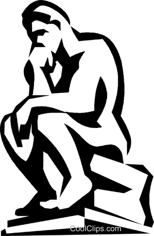 The thinker clipart free svg transparent library thinker Royalty Free Vector Clip Art illustration -vc022703 ... svg transparent library