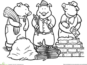 The three little pigs clipart black and white vector free Three Little Pigs Png Black And White & Free Three Little ... vector free