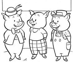 The three little pigs clipart black and white clip black and white stock Three little pigs clipart black and white 3 » Clipart Station clip black and white stock