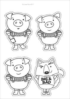 The three little pigs clipart black and white png freeuse stock Three little pigs clipart black and white 2 » Clipart Station png freeuse stock