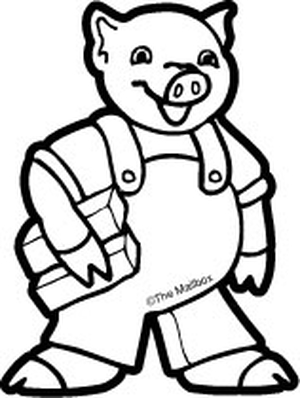 The three little pigs clipart black and white graphic free Three Little Pigs Clipart | Free download best Three Little ... graphic free