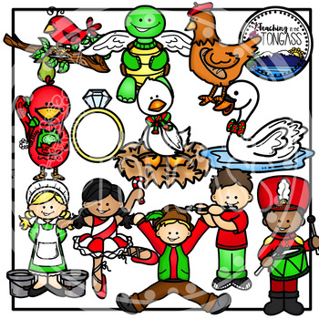 The twelve days of christmas clipart picture free library Twelve Days of Christmas Clipart picture free library