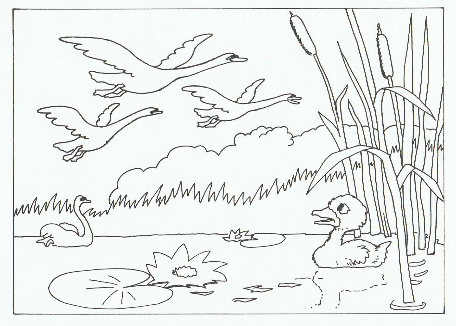 The ugly duckling clipart black and white clip art royalty free The ugly duckling | Crafts for kids | Eventyr, Børnehave og ... clip art royalty free
