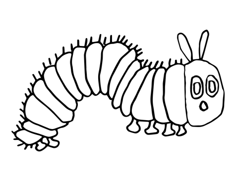 The very hungry caterpillar black and white clipart banner freeuse Hungry Caterpillar coloring page | Free Printable Coloring Pages banner freeuse