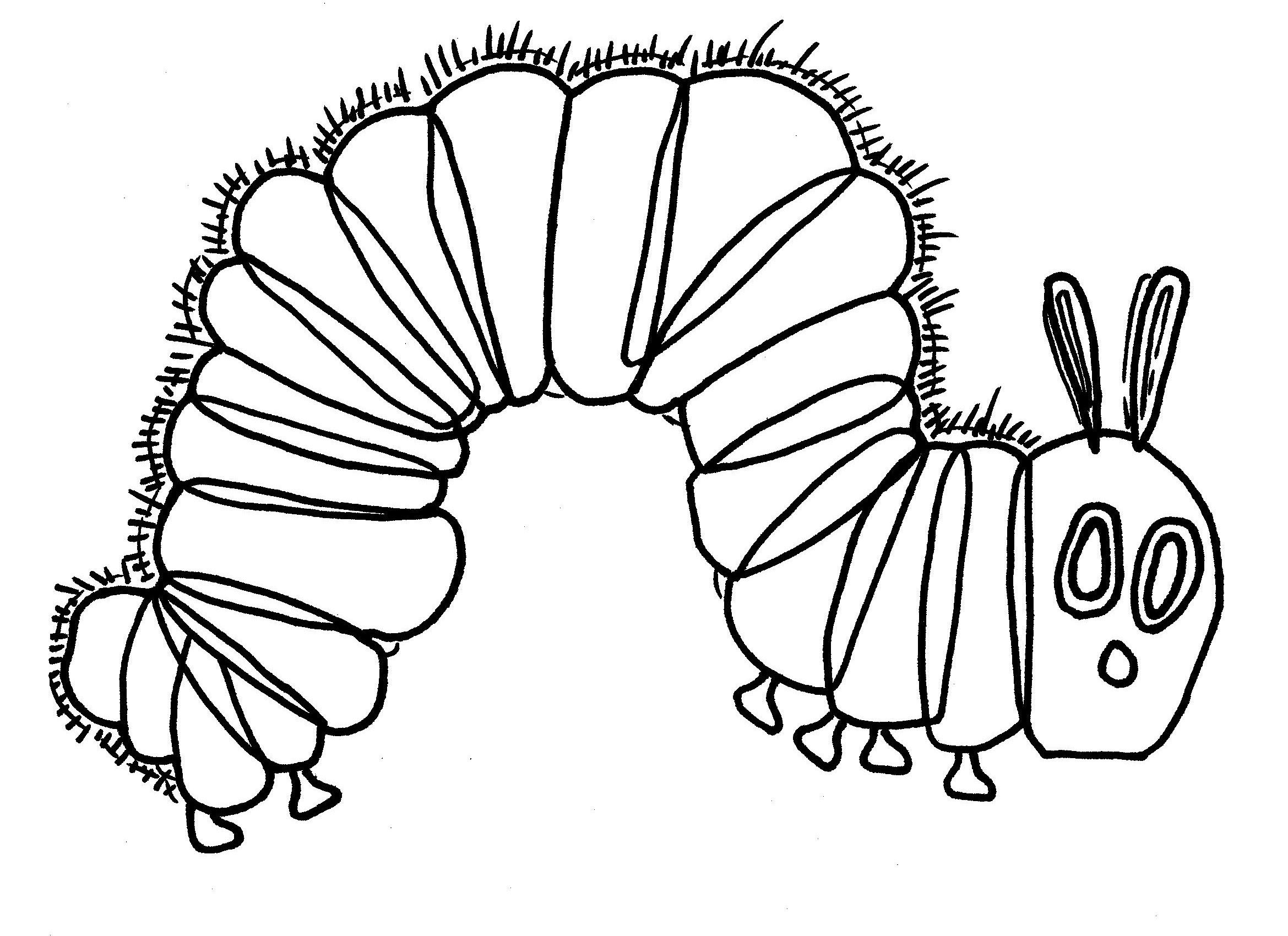 The very hungry caterpillar black and white clipart transparent download Hungry Caterpillar Coloring Page | March | Caterpillar art ... transparent download