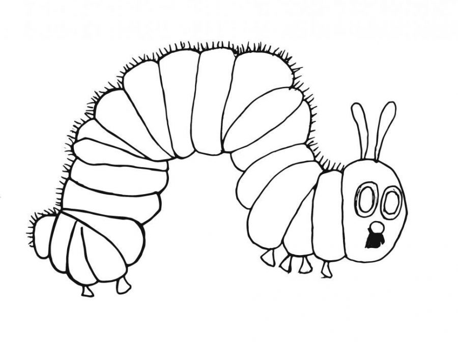 The very hungry caterpillar black and white clipart clipart library Very Hungry Caterpillar Drawing at PaintingValley.com ... clipart library